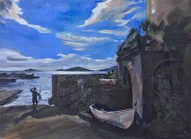 TELLARO, 140cm x 110cm, Acryl & Egg Tempera on Canvas ,sold