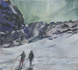 VALLET BLANCHE, 110cm x 100cm, Acryl & Egg Tempera on Canvas