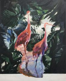 GIUNGLA DI CRU , 110cm x 85cm, Acryl & Egg Tempera on Canvas, sold