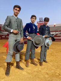 (Izqda a dcha) 3º Yeray González , 2º José Martínez y 1º Martín Morilla