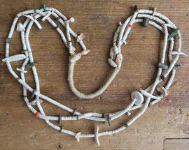 """5205 Pueblo heishi necklace c.1900 28.5"""" $3500"""