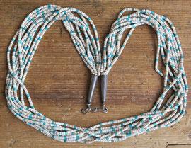 """5206 Pueblo/Navajo 9 strand heishi necklace 28""""c.1940 $2500"""