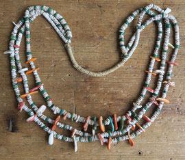 """5145 Pueblo/Navajo heishi necklace 28"""" early 20th c. $3500"""