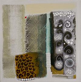 Wild 2012  Technique mixte sur toile 40 x 40 cm 3D