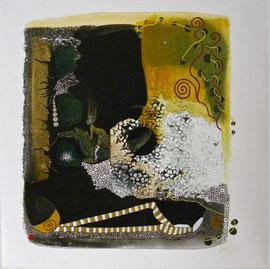 L'Oeuf Mol et Jane Saurien  40 x 40 cm 3D