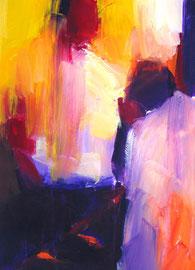 2 Personen (2005). Acryl auf festem Papier 60x40cm