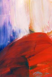 Abstrakt (2014) rot, rosa. Acryl auf festem Papier 60x40cm