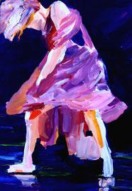Tänzerin (2015). Acryl auf festem Papier 80x60cm