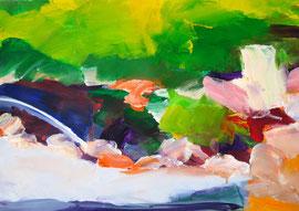 Garten (2005). Acryl auf festem Papier 40x60 cm