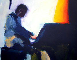 Klavierspieler (2006). Acryl auf festem Papier 60x80cm