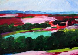 Eifellandschaft (2019). Acryl auf festem Papier. 60x80 cm