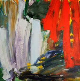 Abstrakt (2014). Acryl auf Leinwand 100x100cm