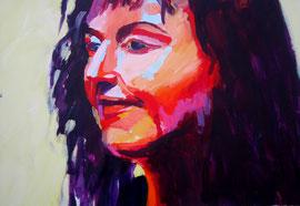 Portrait (2009). Acryl auf festem Papier 60x80cm