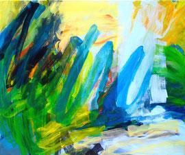 Abstrakt (2014) bunt. Acryl auf Leinwand 100x120cm