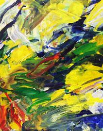 Abstrakt (2016) bunt. Acryl auf Leinwand 120x100 cm