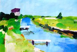 Sommer (2010). Acryl auf festem Papier. 60x80cm
