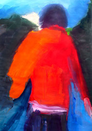 Aufbruch (2013). Acryl auf festem Papier 80x60cm