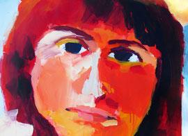 Portrait (2003). Acryl auf festem Papier 60x80cm