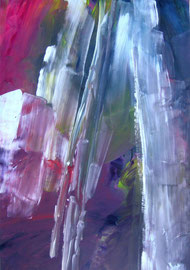 Abstrakt (2008) lila. Acryl auf festem Papier 80x60cm