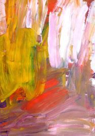 Abstrakt (2011) rosa, bunt. Acryl auf festem Papier 80x60cm