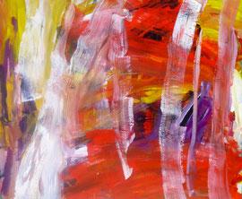 Abstrakt (2011) rot, bunt. Acryl auf Leinwand 100x120cm
