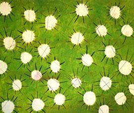 Frühblüher, 120 x 100 cm, auf Leinwand