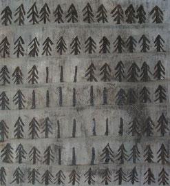 viele Tannen, 50 x 50 cm, auf Leinwand