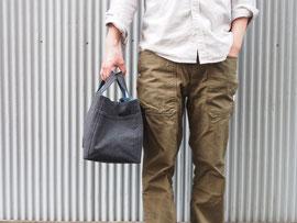 京都のバッグメーカー 革や帆布製のかばん・小物 キャンバスバッグ トートバッグ(ネイビー/ブルー)
