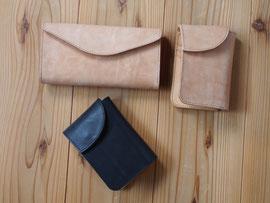京都のバッグメーカー 革や帆布製のかばん・小物 レザーウォレット(ミツロウ 墨)