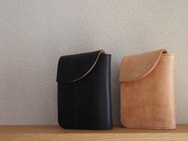 京都のバッグメーカー 革や帆布製のかばん・小物 レザーウォレット(墨 ミツロウ)