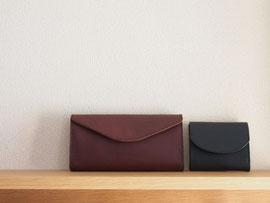 京都のバッグメーカー 革や帆布製のかばん・小物 レザーウォレット コンパクトウォレット(カカオ ネロ)