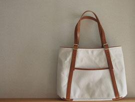 京都のバッグメーカー 革や帆布製のかばん・小物 キャンバスバッグ トートバッグ(キャメル)