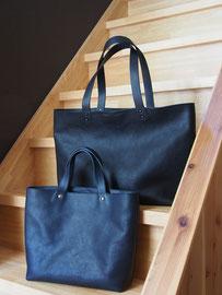京都のバッグメーカー 革や帆布製のかばん・小物 レザーバッグ トートバッグ(ネイビー ネロ)