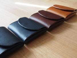 京都のバッグメーカー 革や帆布製のかばん・小物 コンパクトウォレット(ネロ ネイビー カカオ ブランデー)
