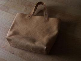 京都のバッグメーカー 革や帆布製のかばん・小物 レザーバッグ レザートート(ナチュラル)