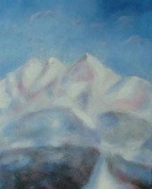 Bergwinter,Acryl, 50x60, 2009
