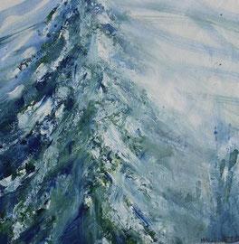 Tanne, Acryl, 30x30, 2009