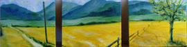 Chiemgau, Acryl, Triprychon, 30x30, 2012