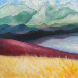 Walchsee, Acryl, 50x50, 2012