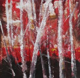 Birken, Acryl, 30x30, 2011