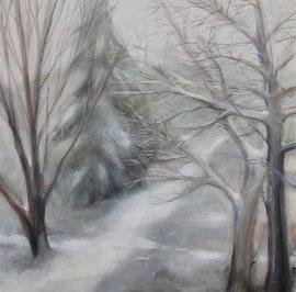 Schneeweg, Acryl, 50x50, 2009