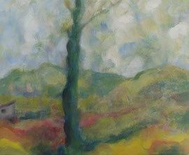 Schuppen, Acryl, 30x40, 2010