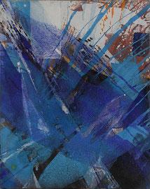 Abstraktion blau | 100 x 80 cm