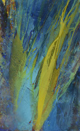Der gelbe Komet | 160 x 100 cm