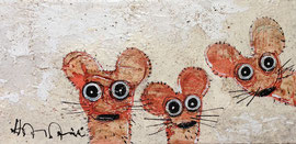 3 souris 16''x8'' on canvas