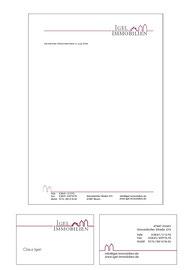 Grafik Design: Briefpapier und Visitenkarte für Igel Immobilien in Moers