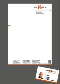 Werbeagentur in Moers: Briefpapier und Visitenkarte für Staunraum in Moers