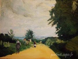peinture copie de tableau d'après Corot