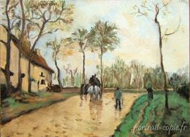 copie de tableau peint d'après Pissaro