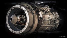 Junkers Jumo 004 B (1944), Strahltriebwerk, Leistung 8,7 kN. Einsatz bei der Messerschmitt Me 262.
